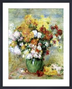 Bouquet of Chrysanthemums, c.1884 by Pierre Auguste Renoir