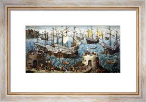 Embarkation of Henry VIII on Board the Henry Grace a Dieu in 1520 by Friedrich Bouterwek