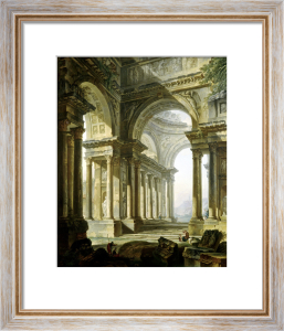 Temple in Ruins by Pierre Antoine Demachy