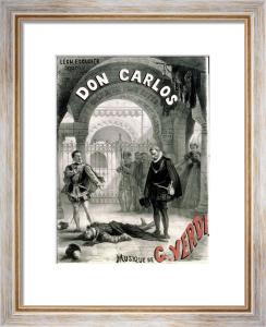 Poster advertising 'Don Carlos' opera by Giuseppe Verdi by Alphonse Marie de Neuville