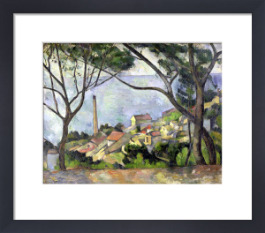 The Sea at l'Estaque 1878 by Paul Cezanne