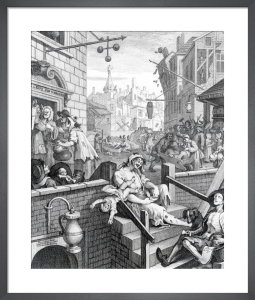 Gin Lane, 1751 by William Hogarth