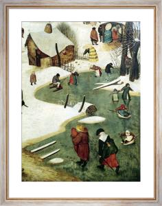 Children Playing on the Frozen River by Pieter Brueghel The Elder