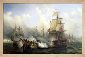 The Redoutable at Trafalgar, 1805 by Auguste Etienne Francois Mayer
