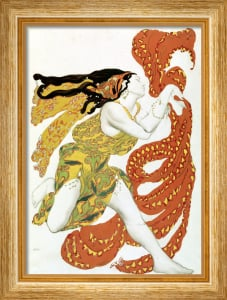Costume design for a bacchante in 'Narcisse' by Tcherepnin 1911 by Leon Bakst