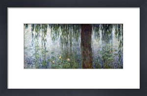 Waterlilies' Morning with Weeping Willows 1915 (I) by Claude Monet