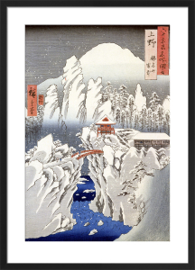 View of Mount Haruna in the Snow by Ando Hiroshige
