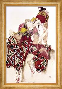 Costume Design for Nijinsky in the Ballet 'La Peri' by Leon Bakst