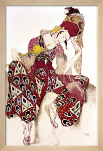Costume Design for Nijinsky in the Ballet 'La Peri' by Leon Bakst