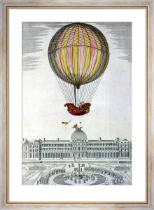 The Flight of Jacques Charles and Nicholas Robert from the Jardin des Tuileries by German School