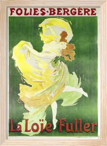 Poster advertising Loie Fuller at the Folies Bergeres, 1897 by Jules Cheret