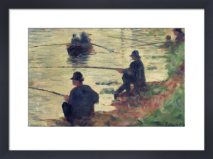 Anglers - Study for 'La Grande Jatte', 1883 by Georges Seurat
