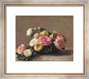 Roses in a Dish 1882 by Ignace-Henri-Théodore Fantin-Latour