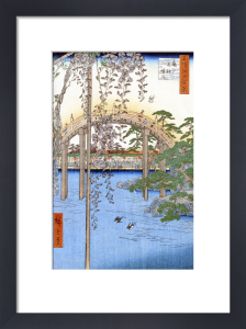 The Bridge with Wisteria or Kameido Tenjin Keidai by Ando Hiroshige