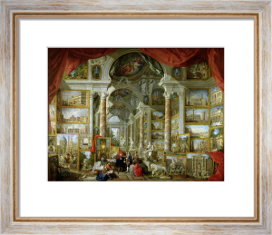 Gallery with Views of Modern Rome, 1759 by Giovanni Paolo Panini