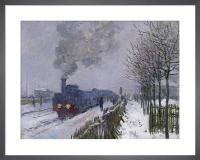 Train in the Snow, or The Locomotive, 1875 by Claude Monet