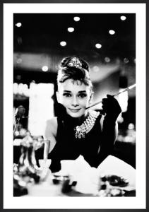 Audrey Hepburn (Breakfast at Tiffany's B&W) by Maxi