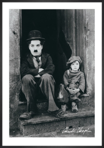 Charlie Chaplin (Doorway) by Anonymous