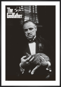 The Godfather (Cat B&W) by Anonymous