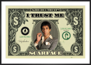 Scarface (Dollar Bill) by Anonymous