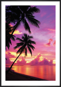 Tahitian Sunset by Anonymous