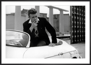James Dean (White Car) by Anonymous