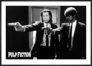 Pulp Fiction (B&W Guns) by Anonymous
