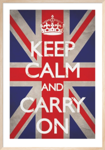 Keep Calm And Carry On (Union Jack) by Anonymous