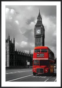 London Red Bus by Anonymous
