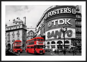 Piccadilly Circus (London Red Buses) by Anonymous