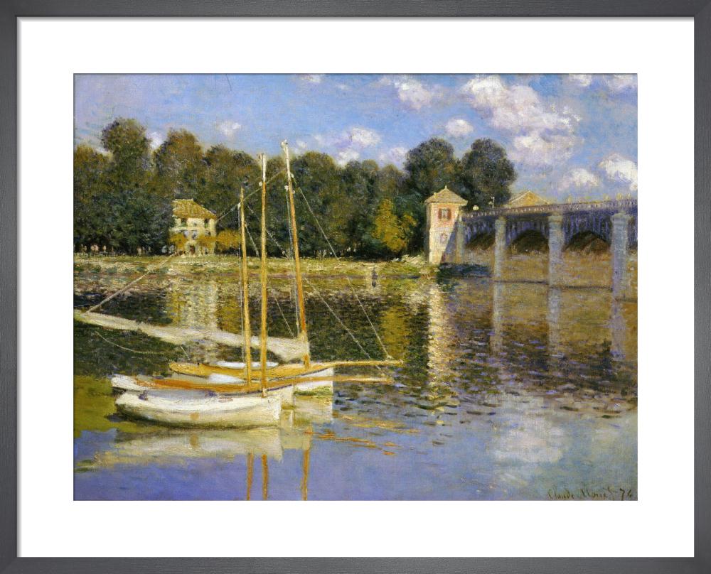 Bridge at Argenteuil, 1874 by Claude Monet