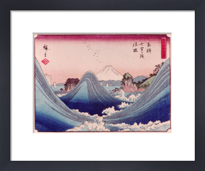 Wind blown waves at Shichi-ri by Ando Hiroshige