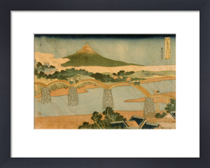 The Kintai Bridge in Suho by Katsushika Hokusai