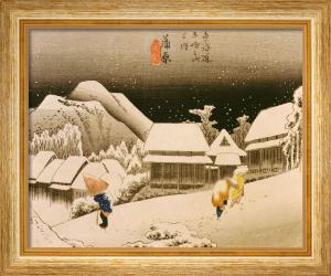 Snow at night by Ando Hiroshige