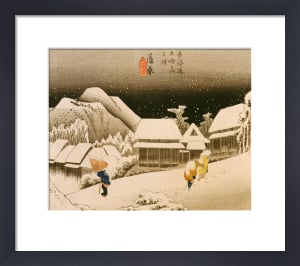 Snow at night by Ando Hiroshige