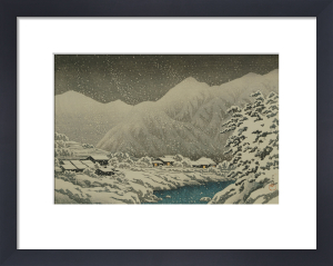 Landscape under snow, ukiyo-e print, 1924 by Kawase Hasui