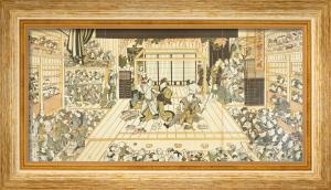 Comedy at the Edo Kabuki Theatre by Utagawa Kunimasa