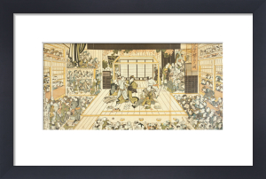 Comedy at the Edo Kabuki Theatre by Utagawa Kunimasa