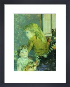 Clovis and Pola Gauguin by Paul Gauguin