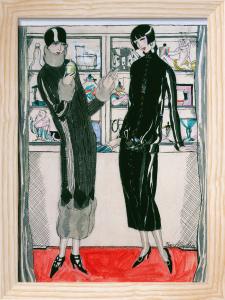 Women in a boutique by Friedlander