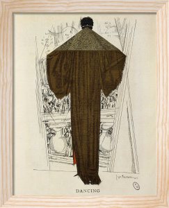 'Dancing' evening coat by Paul Poiret by Anonymous