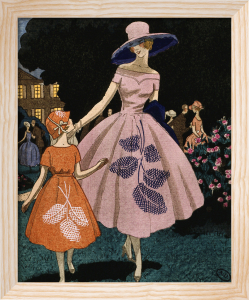 'La fête est finie' (the fête is over) organdie dress by Jeanne Lanvin by Anonymous
