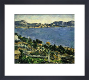L'Estaque, vue du golfe de Marseille by Paul Cezanne