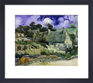 Chaumes de Cordeville à Auvers-sur-Oise, Thatched cottages in Cordeville, 1890 by Vincent Van Gogh