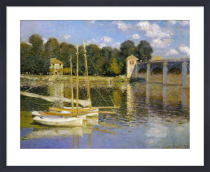 Bridge at Argenteuil, 1874 by Claude Monet