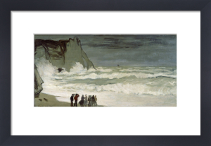 Heavy seas at Etretat, France, 1872 by Claude Monet