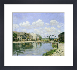 The Saint Martin Canal, Paris, France1872 by Alfred Sisley