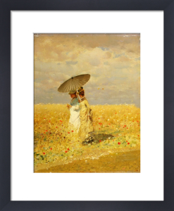 In the fields, 1873 by Giuseppe de Nittis
