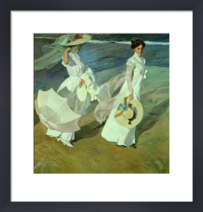 Women walking on the Beach, 1909 by Joaquin Sorolla y Bastida