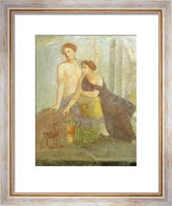 Women playing with a goat by Anonymous